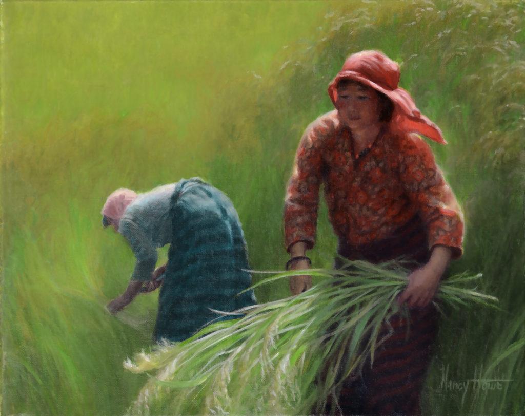 Bountiful • 2015 • 8 x 10 •   Oil on linen • Bhutan • Available Tilting at Windmills Gallery