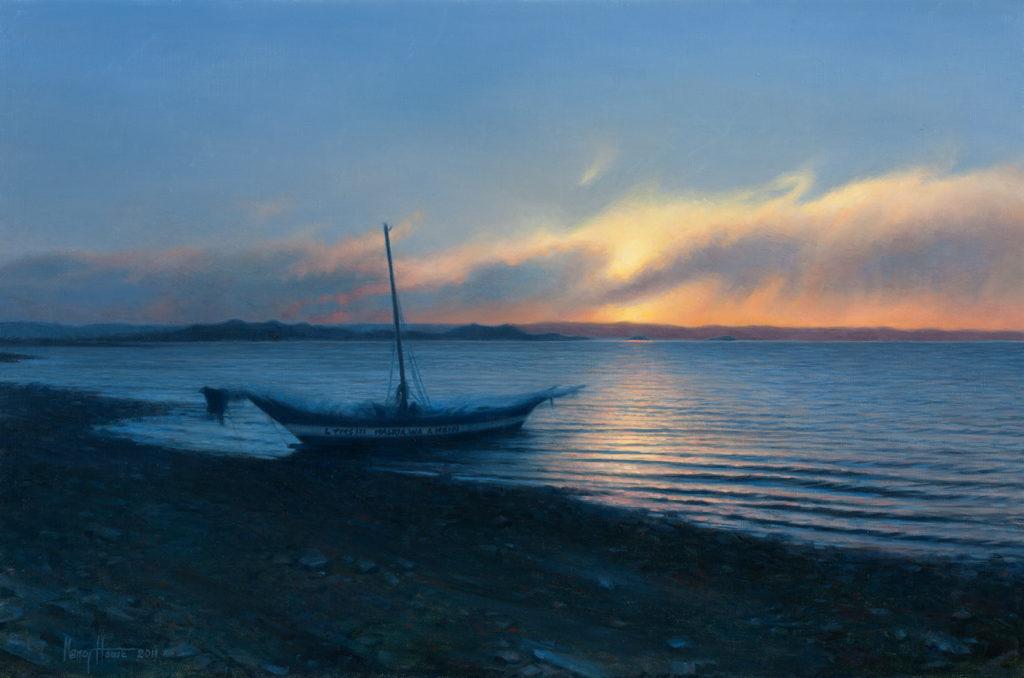 Closing The Day, Lake Turkana • 2011 • 14 x 22 • Oil on linen