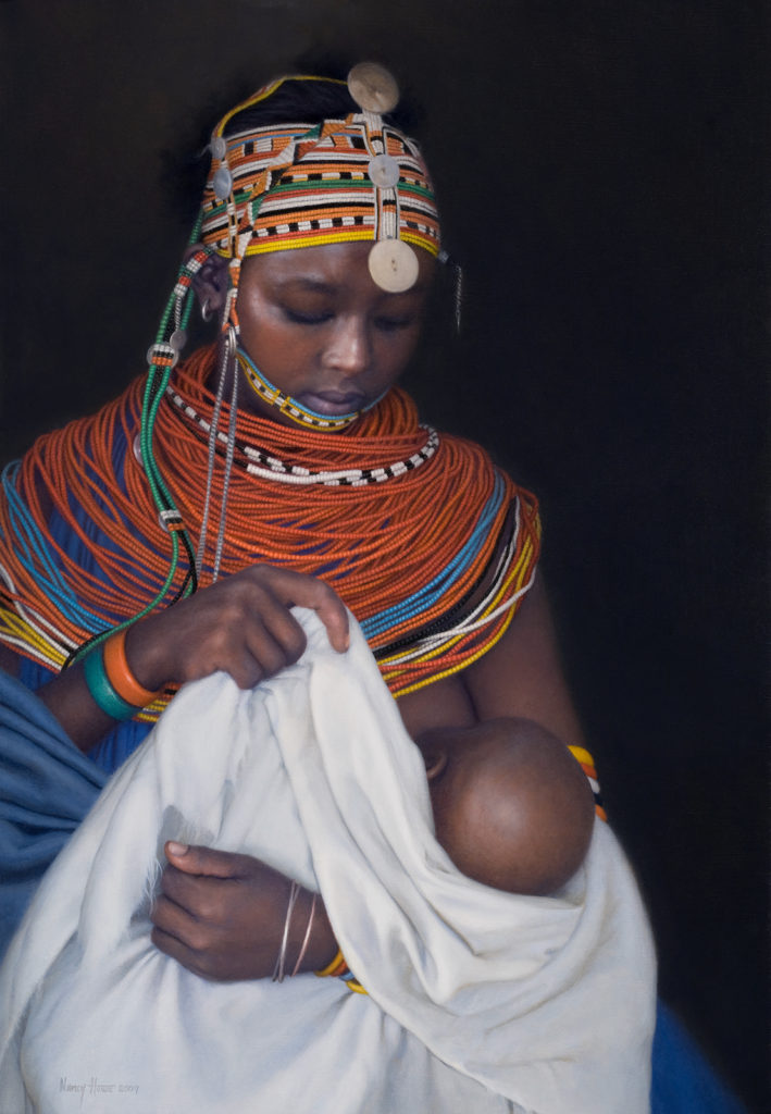 Tender Refrain/First Born • 2010 • 26 x 18 • Oil on Linen • Available Tilting at Windmills Gallery