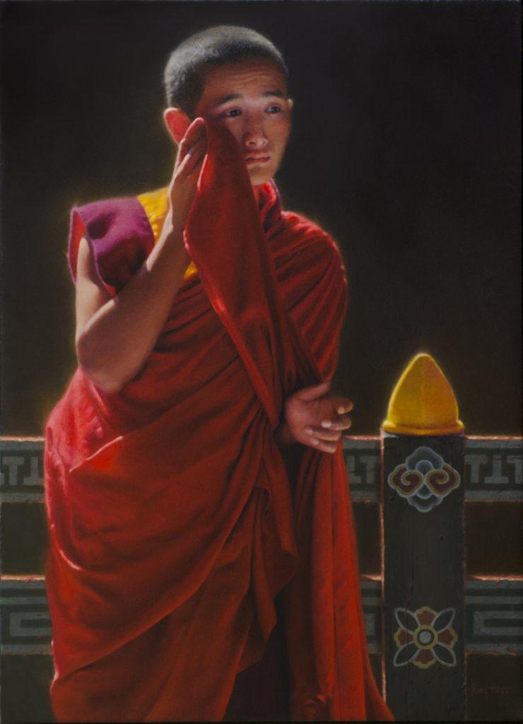 The Glinting • 2014 • 28 20 • Oil on linen • Bhutan