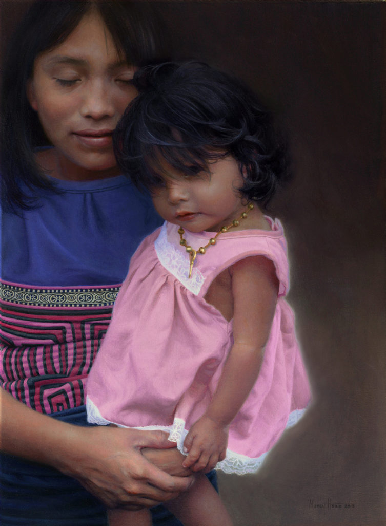 Kuna indigenous mother and daughter, San Blas Islands, Panama Available: Tilting at Windmills Gallery, Manchester, VT